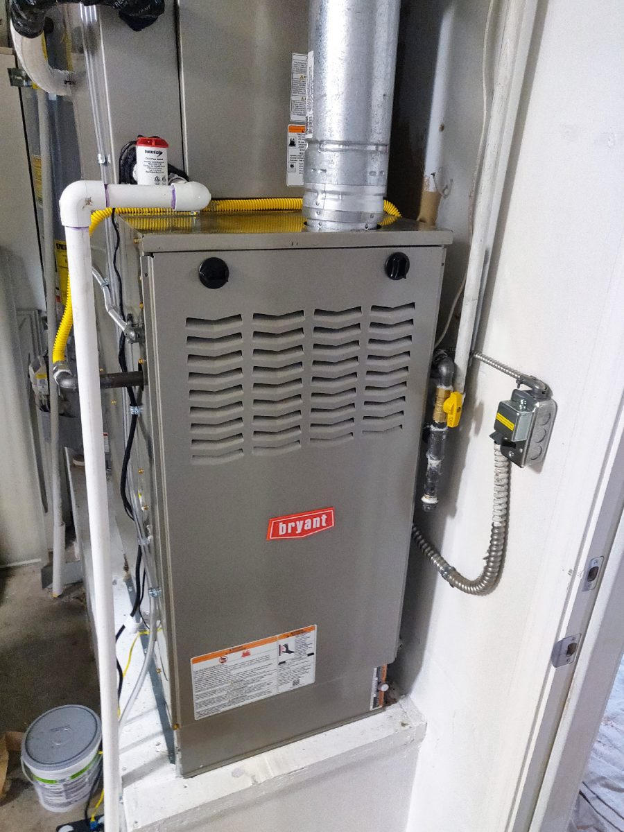 HVAC installation with Bryant 811SA42090E17 furnace in San Jose, California