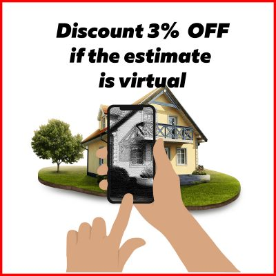 3% discount if the estimate is virtual
