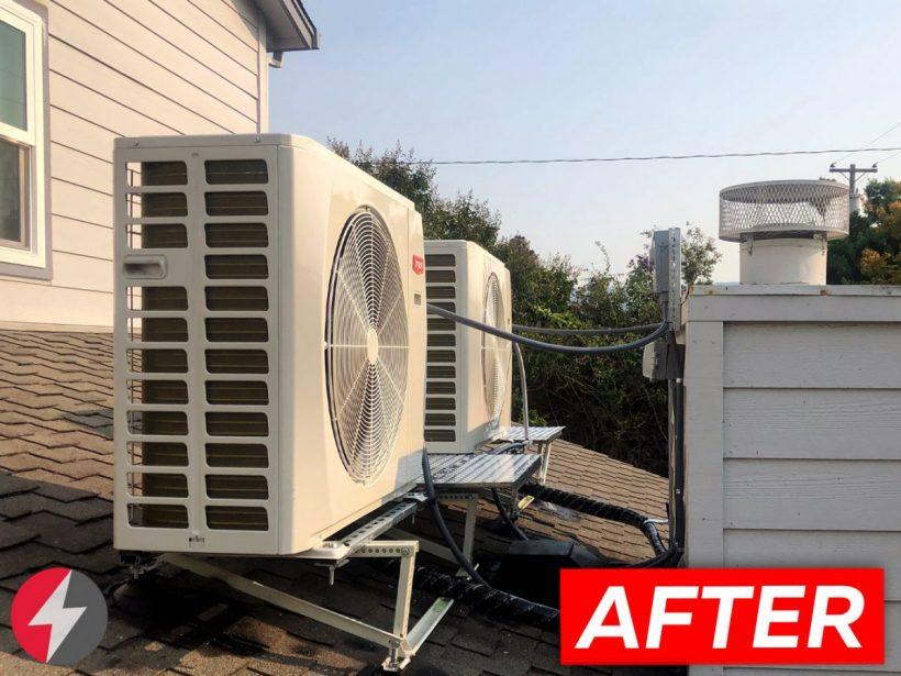HVAC Ultra Quiet operation Slim AC installation