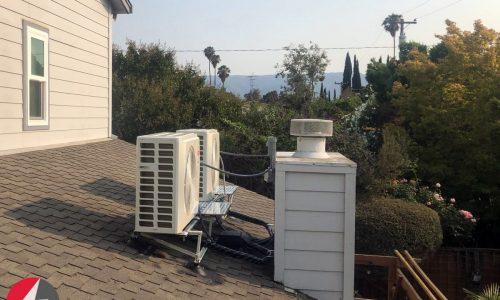 HVAC Ultra Quiet operation Slim AC installation in San Jose, California